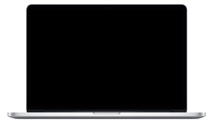 MacBook Showing a Black Screen